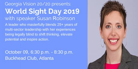 World Sight Day 2019 Speaker Event with Susan Robinson tickets