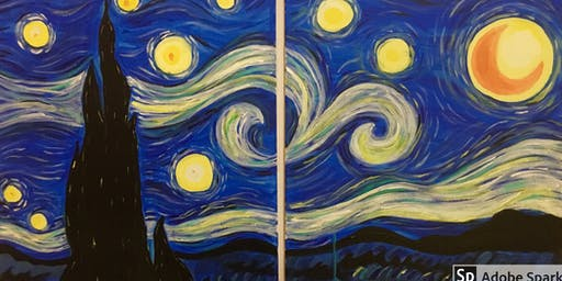Couples Collaborate Paint Night