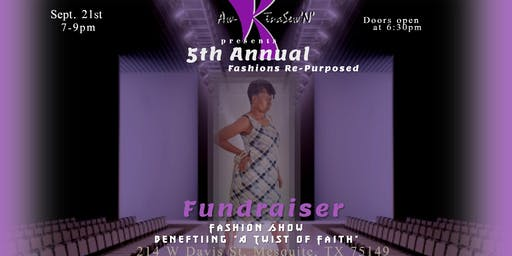 """Aw-KinaSew'N' presents Fashions Re-Purposed Fundraiser Fashion Show - """"All Tied Up"""""""