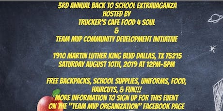 TCF4S & Team MVP 3rd Annual Back 2 School Extravaganza 2019 tickets