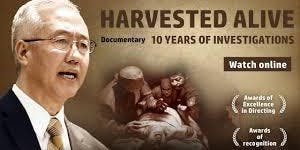 """Documentary Screening: """"Harvested Alive - 10 Years of Investigation"""""""