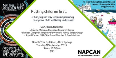 National Child Protection Week Q&A Forum, Alice Springs
