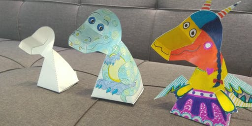 3D T-Rex Arts and Crafts with Love to Share Arts Centre