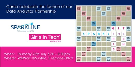 Launch celebration data analytics partners: Sparkline x Girls in Tech SG