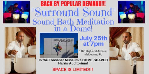 SURROUND SOUND: Sound Bath Meditation in a Dome Auditorium!
