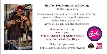 Step-by-Step Kombucha with Babe Kombucha (Berry Good Food Academy) tickets