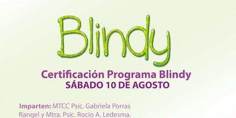 Certificación Programa Blindy Monterrey boletos