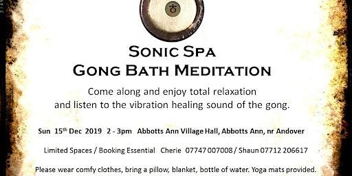 Sonic Spa Gong Bath Meditation - 15th December 2019