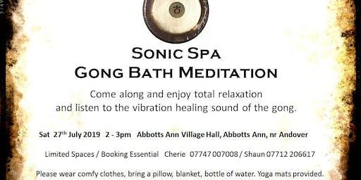 Sonic Spa Gong Bath Meditation - 27th July 2019