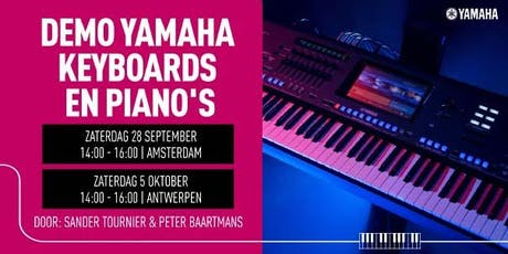 Demo Yamaha Digitale Piano's & Keyboards tickets