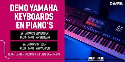 Demo Yamaha Digitale Piano's & Keyboards