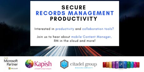 Secure Records Management Productivity - Information Session tickets