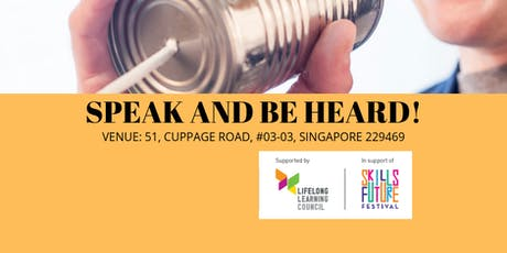 SPEAK AND BE HEARD! tickets