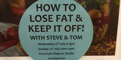How to lose fat and keep it off