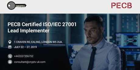 ISO/IEC 27001:2013 Lead Implementer (5 days) - £1,365 tickets