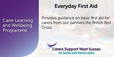Carer Workshop:  Everyday First Aid - Shoreham tickets