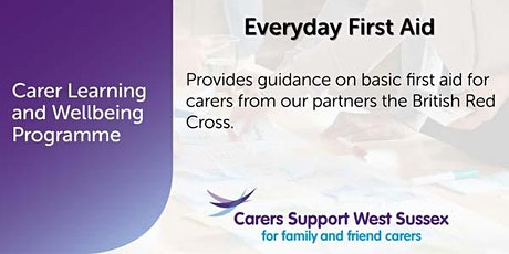 ***CANCELLED***Carer Workshop:  Everyday First Aid - Crawley tickets