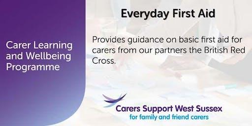 Carer Workshop:  Everyday First Aid - Crawley