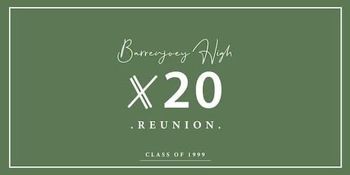 BARRENJOEY HIGH REUNION X 20   CLASS OF 1999
