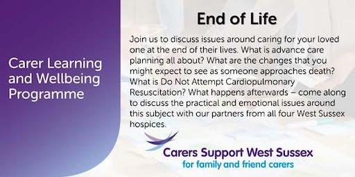 Carer Workshop:  End of Life - Horsham