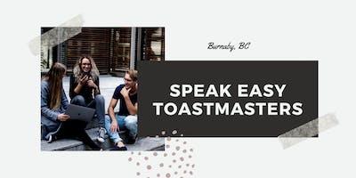 Speakeasy Toastmasters Weekly Meeting