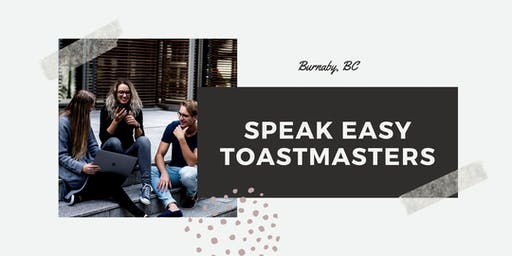 Speakeasy Toastmasters Weekly Meeting