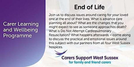 Carer Workshop:  End of Life - Worthing tickets