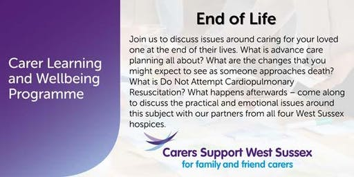 Carer Workshop:  End of Life - Worthing