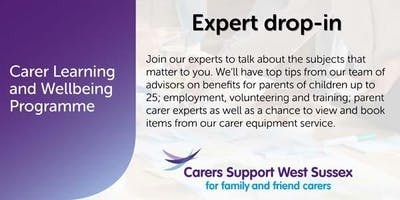 Carer Workshop:  Expert Drop-in - Crawley