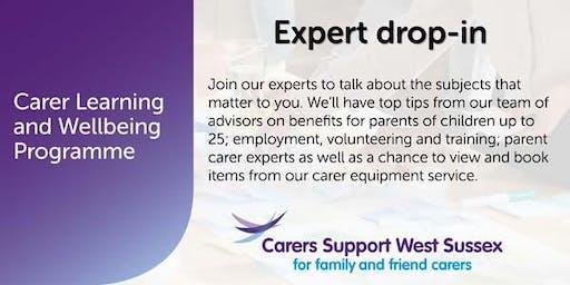 Carer Workshop:  Expert Drop-in - Crawley