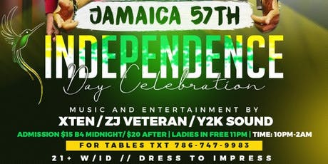 Jamaica's 57th Independence Celebration  tickets