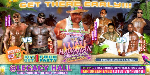 THE LUAU..Buy 1 Get 1 Free Party Bachelorette, Birthday Edition