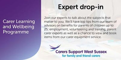 Carer Workshop:  Expert Drop-in - Chichester