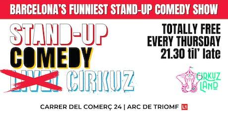 Stand-Up Comedy Cirkuz @Cirkuzland entradas