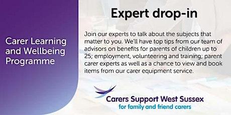 Carer Workshop:  Expert Drop-in - Worthing tickets