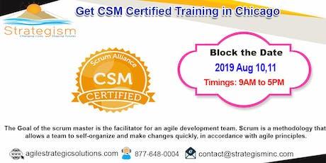 CERTIFIED SCRUM MASTER (CSM) Training in Chicago-Aug 10,11-2019 tickets