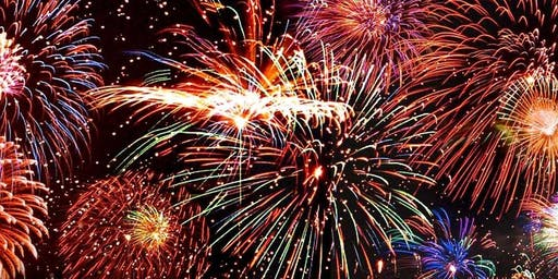 Blue Flames Fireworks Display