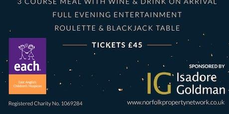 NPN Charity Xmas Black Tie casino evening  tickets