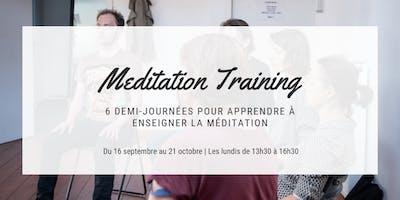 Formation : savoir enseigner la méditation