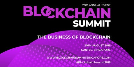 Blockchain Summit Singapore 2019 tickets