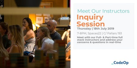 Meet our Instructors - Inquiry Session tickets