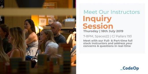 Meet our Instructors - Inquiry Session