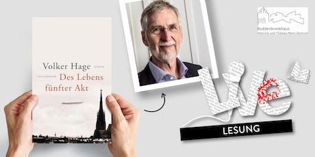 LESUNG: Volker Hage Tickets