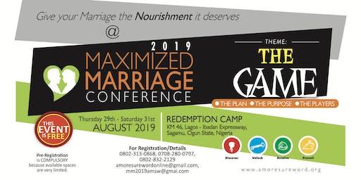 MAXIMIZED MARRIAGE 2019