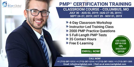 PMP® Certification Training In Columbus, MO, USA | 4-Day (PMP) Boot Camp tickets