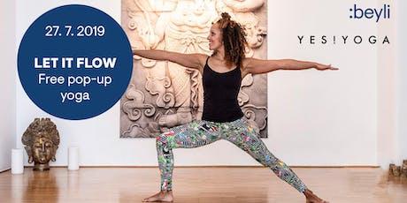 Let it flow – free PopUp Yoga @beyli Studio Tickets