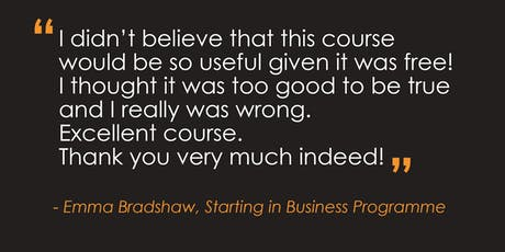 Starting in Business Programme – Spalding tickets