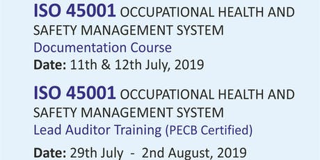 ISO 45001 OCCUPATIONAL HEALTH AND SAFETY MANAGEMENT SYSTEM LEAD AUDITOR TRAINING  tickets