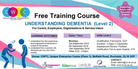 Understanding Dementia (Level 2) tickets