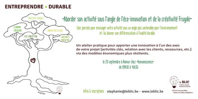 ENTREPRENDRE + DURABLE : aborder son activité sous l'angle de l'éco-innovation & de la créativité frugale